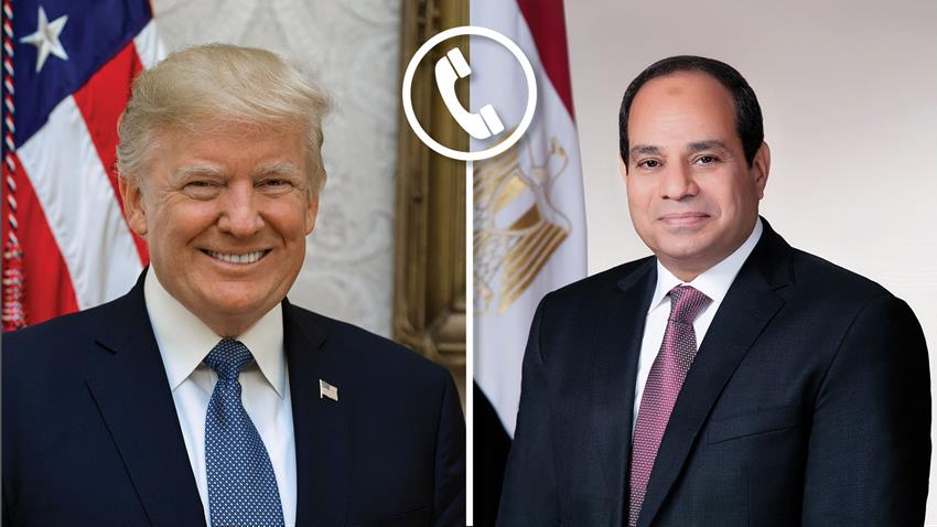 President El-Sisi Discusses Developments on Libya and GERD with US President Trump on Phone Call
