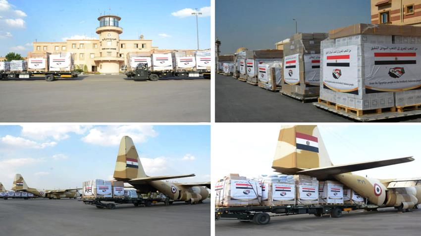 Egypt Airlifts Emergency Aid to Flood-Affected People in Sudan