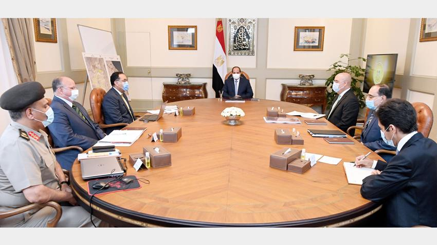 Implementation Status of Developing Informal Areas Discussed in a Meeting Held by President El-Sisi