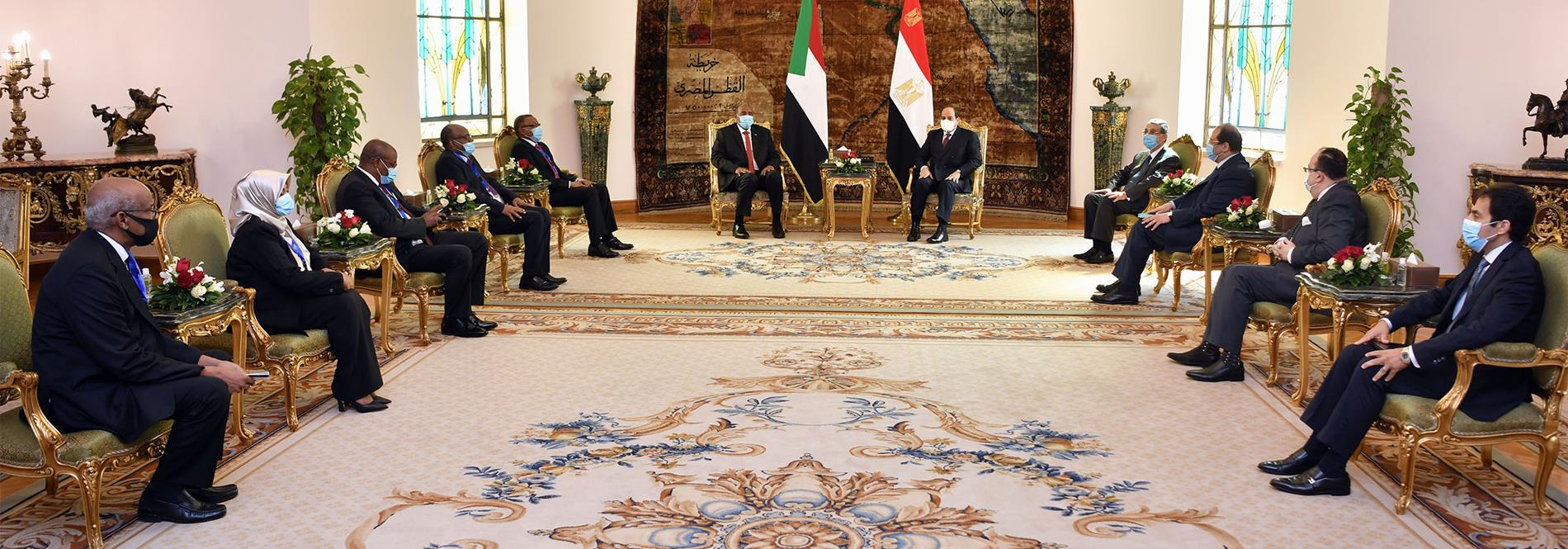 President El-Sisi Receives Chairman of Sudanese Sovereignty Council