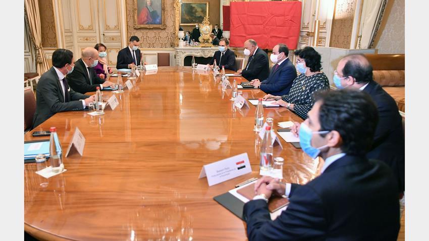الرئيس عبد الفتاح السيسي يلتقي وزير خارجية فرنسا 7-12-2020