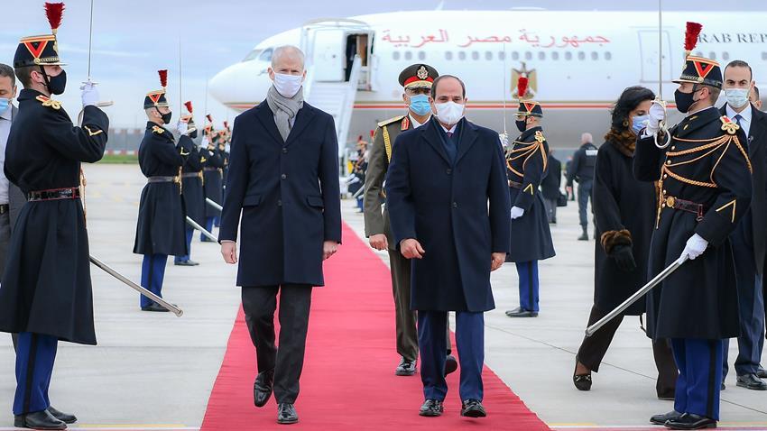 Le Président Al-Sissi se rend en France pour une visite officielle