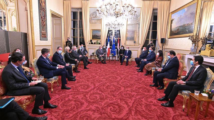 الرئيس عبد الفتاح السيسي يلتقي رئيس مجلس الشيوخ الفرنسي 9/12/2020