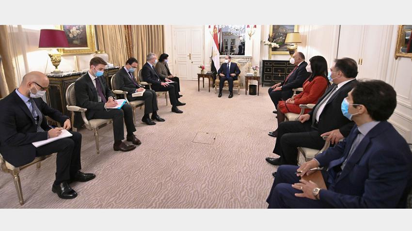 الرئيس عبد الفتاح السيسي يستقبل وزير الاقتصاد والمالية الفرنسي