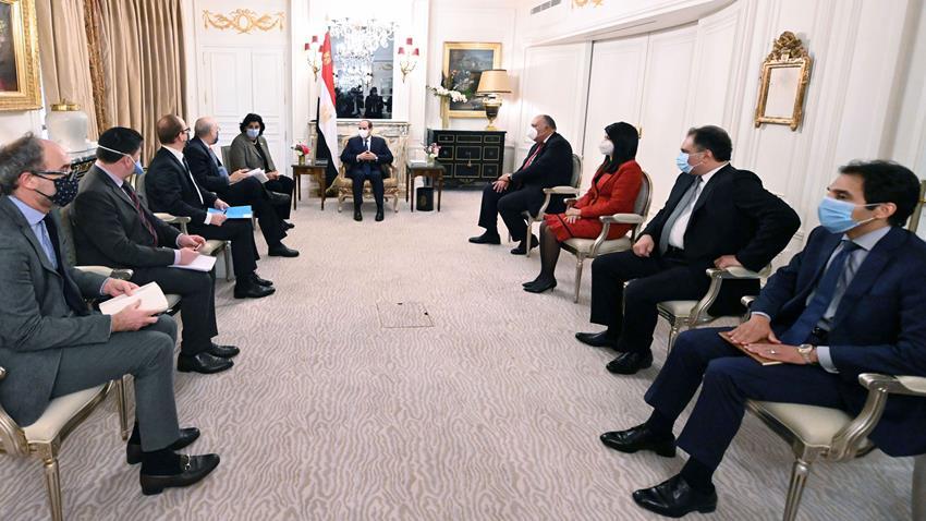 الرئيس عبد الفتاح السيسي يستقبل سكرتير عام منظمة التعاون الاقتصادي والتنمية