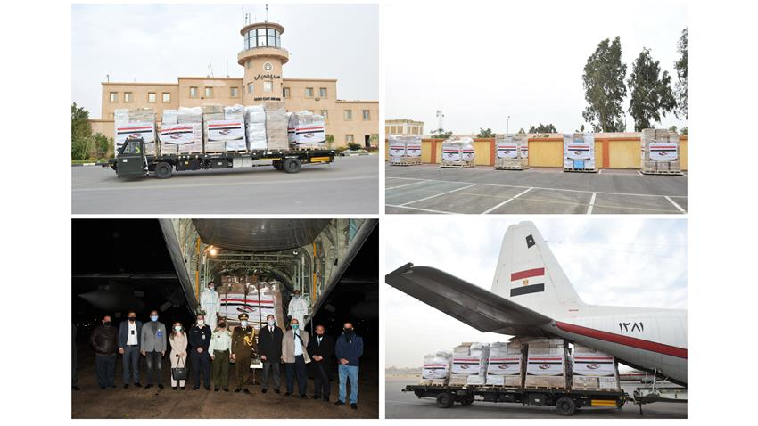 Egypt Airlifts Medical Aid to Jordan