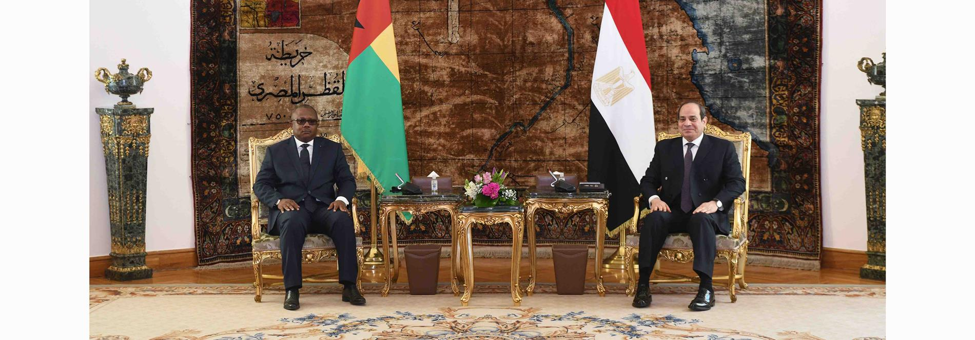 President El-Sisi Expresses Pleasure at Meeting with President of Guinea-Bissau