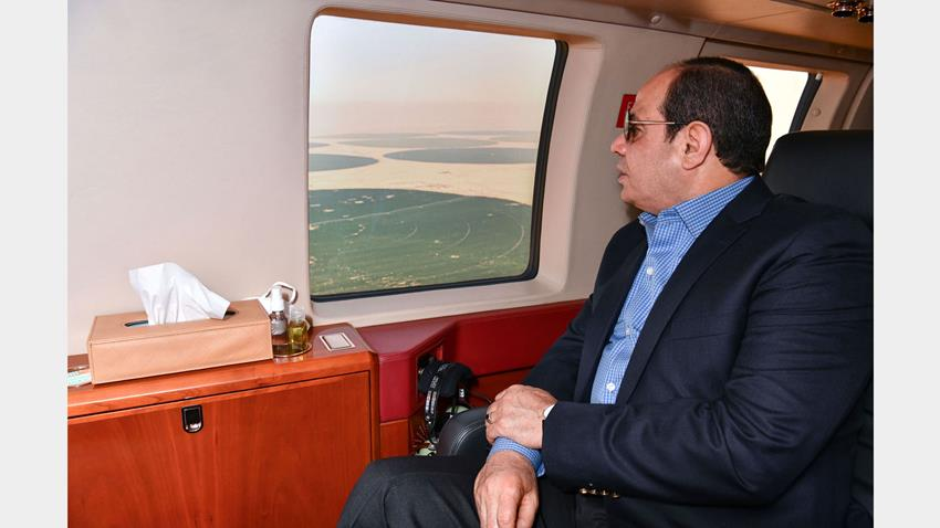 President El-Sisi Inspects Egypt's Future Project